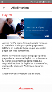 Paypal Vodafone Wallet
